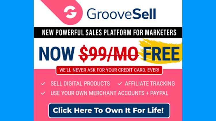 FREE Lifetime GrooveSell Accounts 1